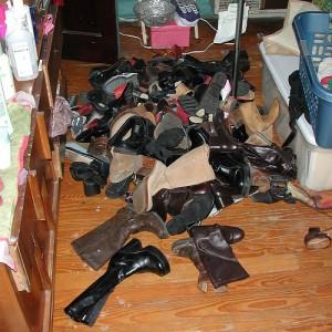 Lagerung von Schuhen